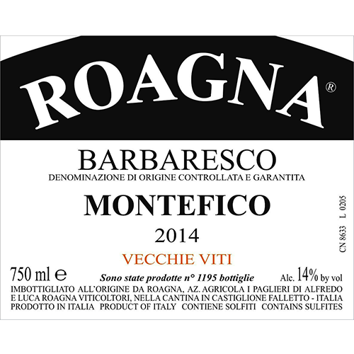 Vecchie Viti Barbaresco Montefico